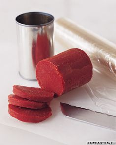 Great kitchen tip for saving tomato paste- freeze and slice