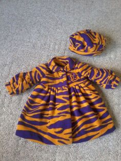 Girl's coat and hat set Purple and gold by SouthernBabyClothing,