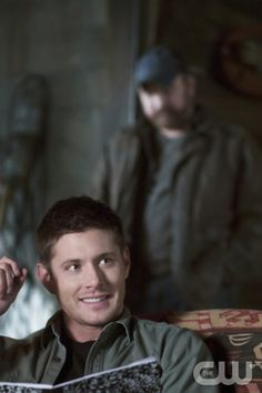 """""""There Will Be Blood"""" -- Pictured (L-R):  Jensen Ackles as Dean and Jim Beaver as Bobby Singer in SUPERNATURAL on The CW. Photo: Jeff Weddell/The CW ©2012 The CW Network. All Rights Reserved."""