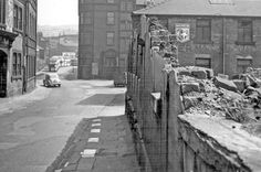 Pond Hill looking towards junction with River Lane, right, Joseph Rodgers and Sons Ltd., Sheaf Island Works, Cutlery Works