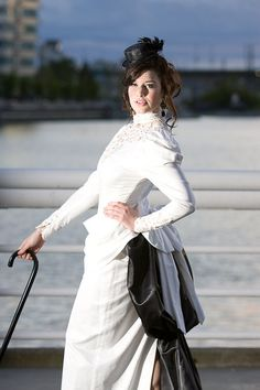 Victorian Steampunk Eggshell Wedding Dress  One by angelicvision, $998.00