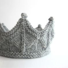 knights, knit crown, birthday crowns, silver, dresses, dress up, pretend play, headbands, yarn
