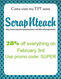 SALE! SALE !SALE! on tpt Feb 3rd