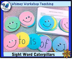How you do encourage sight word practice at home? This year we made a sight word caterpillar for each student to take home so they can read the words as they're falling asleep! More details at Whimsy Workshop Teaching http://whimsyworkshop.blogspot.ca/
