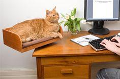 Refined Feline desktop cat bed