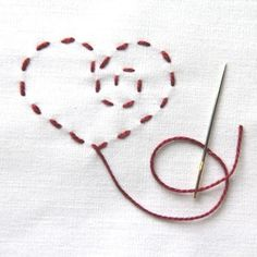The Labor of Love Freezer Paper Embroidery project is the perfect way to get you revved up for Valentine's Day.