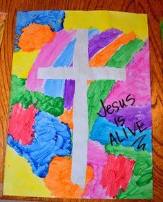 Tape painted crosses