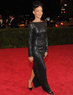 Rihanna in Tom Ford @ The MET Ball 2012