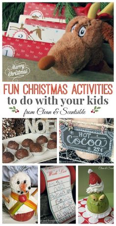Lots of fun activity ideas to do with your kids at Christmas!  Free activity planner printable included!
