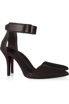 Liya Pumps: Stingray, leather and suede. #Shoes #Pumps #Alexander_Wang