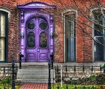 purple the color purple, door design, brick, violet, house doors, front doors, colorful doors, front door colors, purpl door