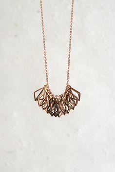 Cage Fringe Necklace, $45
