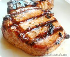 Pork Chops, Montreal seasoning, soy sauce, olive oil