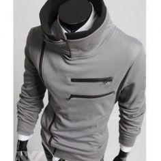 doublelay, jacket coat, glasses, collar jacket, jackets, collars, men's clothing, stand collar, coats