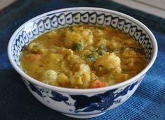 red lentil & cauliflower soup