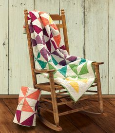 Bring summer inside with Nicole's Pinwheel Collection -- an exclusive heirloom throw featuring a classic double pinwheel pattern re-imagined by 13-year-old Nicole in her grandmother's sewing room.