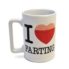 I Love Farting Talking Mug