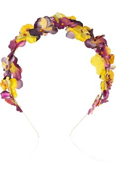 Eugenia Kim Parker paper-flower and crystal headband  dibs on being able to diy this