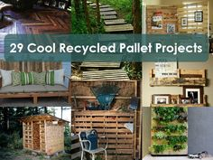 pallet idea, pallet projects, recycl pallet, 29 cool recycled pallet, recycled pallets