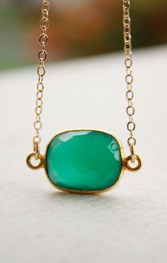 So, soooooo in LOVE <3 Green Onyx Necklace.