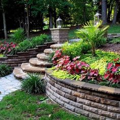 Brick Build Up for Backyard Landscaping