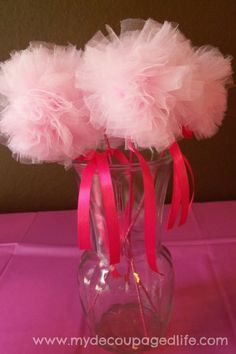 Tulle wands instead of stars...     Princess birthday party