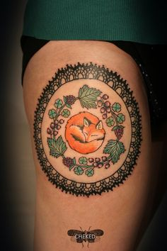 Such an adorable fox tattoo