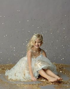 Glitter photo shoot, hey could do this with a big girl for a senior pic-in prom dress?- because the love of sparkle never dies