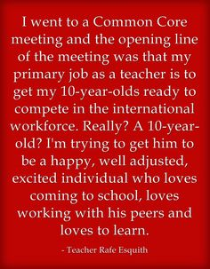 """Quote Of The Day: """"Educators On What Standardized Testing Means"""""""