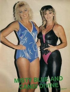 Womens Pro Wrestling: Misty Blue Simmes and Candi Devine