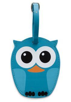 Owl luggage tag. ♥