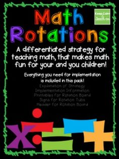 Math Rotations: Math Teaching Strategy
