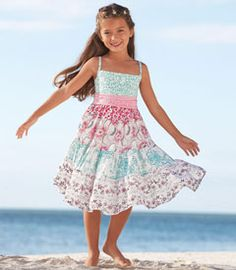 inspiration | This  is my ideal waist position on  any little girl's dress. Tiered garden dress $78.00
