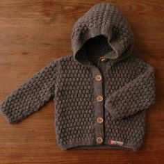 Mormor Grey Hooded Cardigan