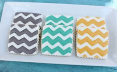 Chevron cookies.