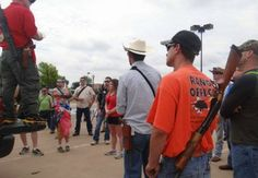 Open Carry Texas  Flood Target Carrying Loaded Rifles in Irving, Texas on Saturday.