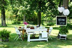 summer celebr, backyard parties, garden parties, impromptu summer