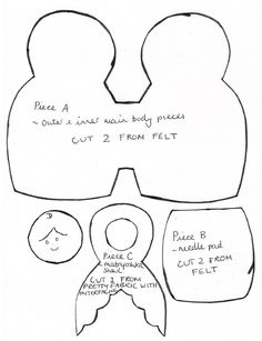 Matryoshka Pattern Pieces