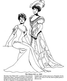 Late Victorian and Edwardian Fashions Coloring Book, Dover Publications
