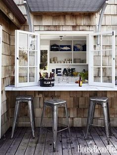 What would you order at this quaint patio bar?