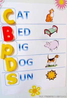 Learning to read & spell. Easy to make activity