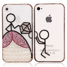 Original Propose Crystal Bling Bling Phone Case for Couple. $34.99, via Etsy.
