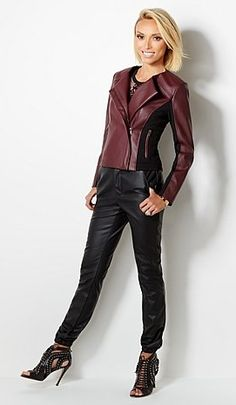 @GiulianaRancic's moto jacket gets an edgy update for fall with the options of faux leather or suede. Layer over a tank and skinny pants for a chic date night look. Which color are you falling for this season?