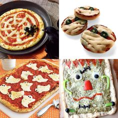 7 Halloween Pizza ideas! These are the cutest ones I've seen! Definitely making this a Halloween night tradition! :)
