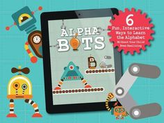 Alphabots - 6 robot-themed mini-games for alphabet practice: animated alphabet flashcards, 3 types of puzzles, spelling and letter recognition activities. Appysmarts score: 85/100 http://www.appysmarts.com/application/alphabots,id_97554.php