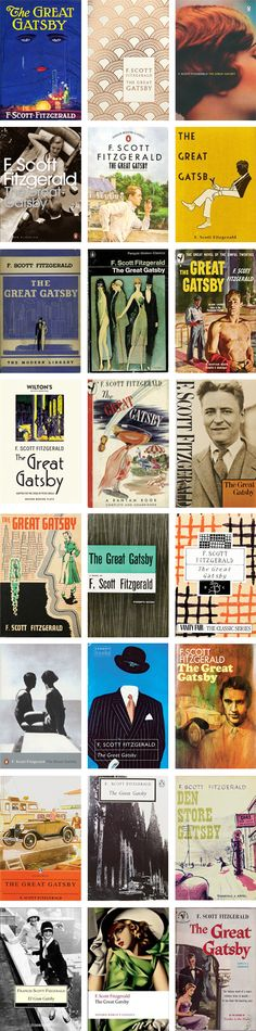 // The Great Gatsby Book Covers