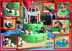 Farm animals cake By ncox vanilla cake, birthdays, farms, animal cakes, 3rd birthday, farm birthday, farm cake, chocolate cakes, birthday cakes
