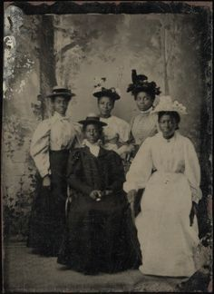 Portrait of a group of young ladies, ca. 1880    Part of the Randolph Linsly Simpson African-American collection    Yale Collection of American Literature, Beinecke Manuscript Library