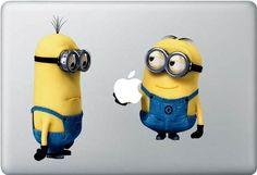 Minions Mac Decal Macbook Stickers Macbook Decals Apple Decal for Macbook Pro / Macbook Air / iPad / iPad2/iPad3  I NEED!!!
