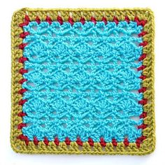 Theme Square #1 square motif pattern by Gourmet Crochet ~ Free Pattern